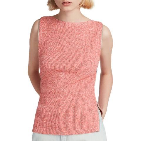 AllSaints Coral Anza Cotton Blend Knit Top