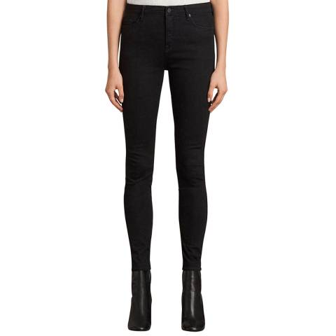 AllSaints Black Grace Skinny Stretch Jeans