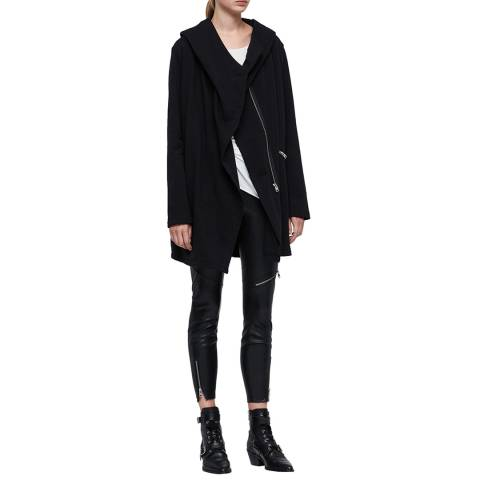 AllSaints Black Navarre Cotton Jacket