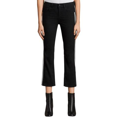 AllSaints Black Heidi Kickflare Stretch Jeans