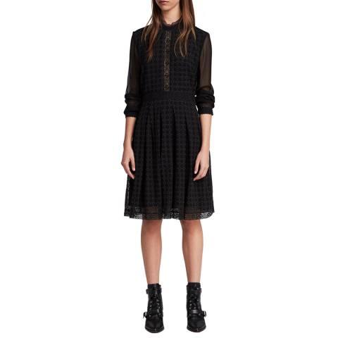 AllSaints Black Lilith Dress