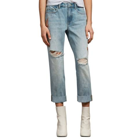 AllSaints Light Blue Birds Alana Boys Jeans