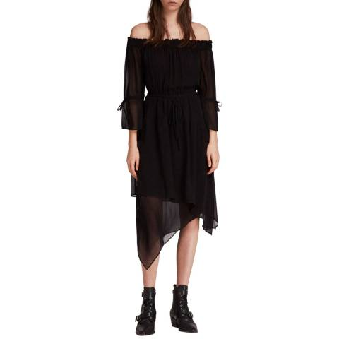 AllSaints Black Rina Dress