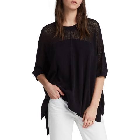 AllSaints Black Blois Oversized Knit Top