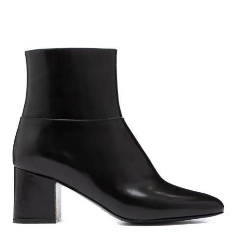 Jil Sander Black Leather Ankle Boots
