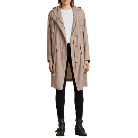 AllSaints Dusty Pink Kinsley Parka Jacket