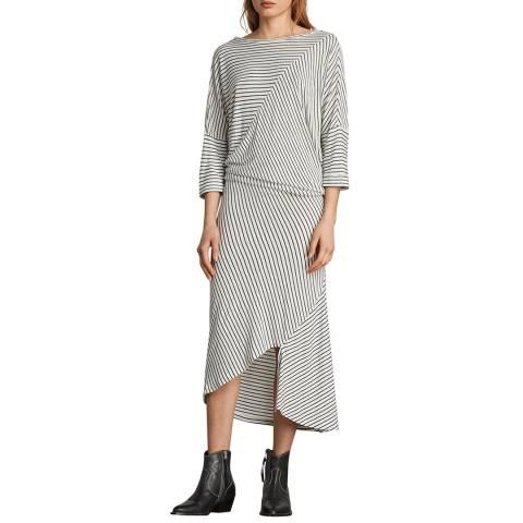 AllSaints Ecru/Black Cadie Dress
