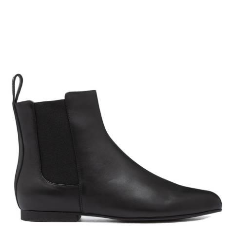 Jil Sander Black Leather Ankle Chelsea Boots