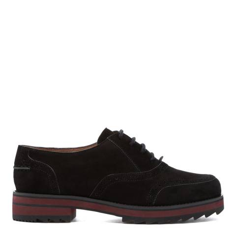 Jil Sander Black Suede Brogue Shoes