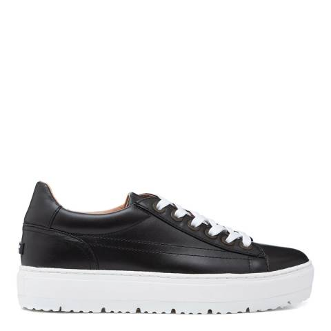 Jil Sander Black Leather Platform Sneakers