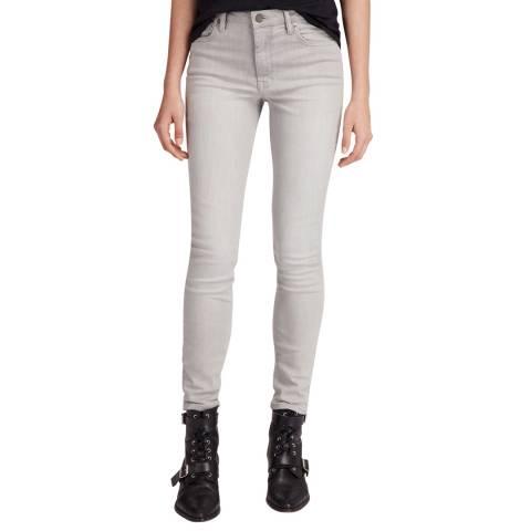 AllSaints Light Grey Stilt Vintage Stretch Jeans