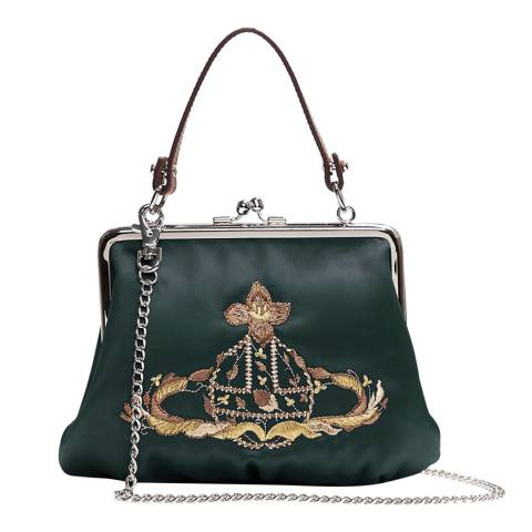 Vivienne Westwood Green Large Dolly Evening Bag