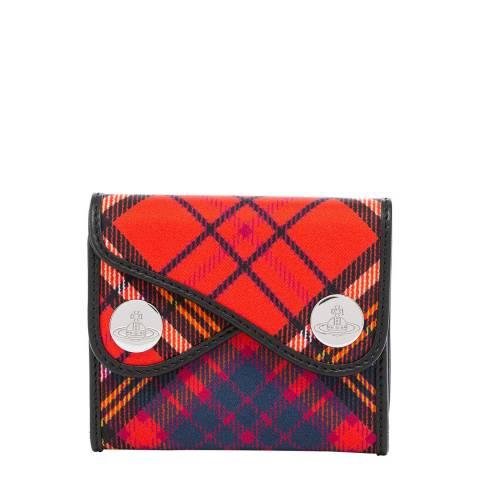 Vivienne Westwood Red Tartan Double Dot Small Wallet