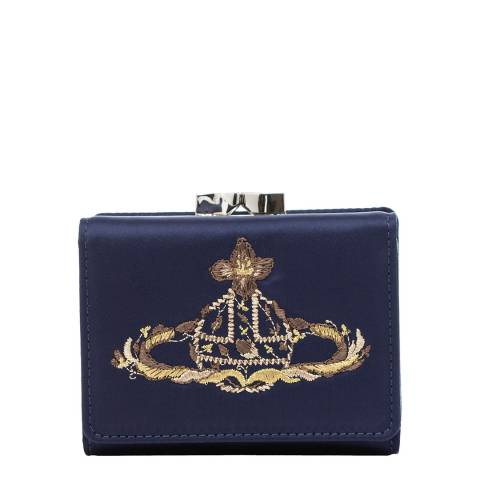 Vivienne Westwood Navy Dolly Small Frame Wallet