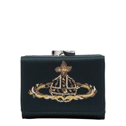 Vivienne Westwood Green Dolly Small Frame Wallet
