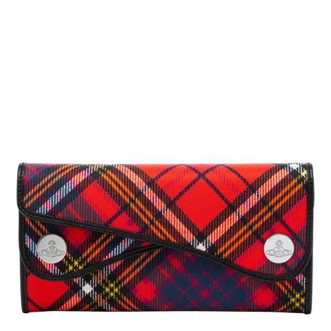 Vivienne Westwood Red Tartan Double Dot Flap Wallet