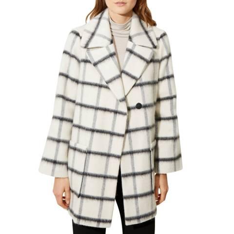 Great Plains Cream Wool Blend Coat