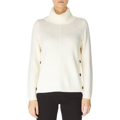 Jaeger Cream Button Detail Jumper