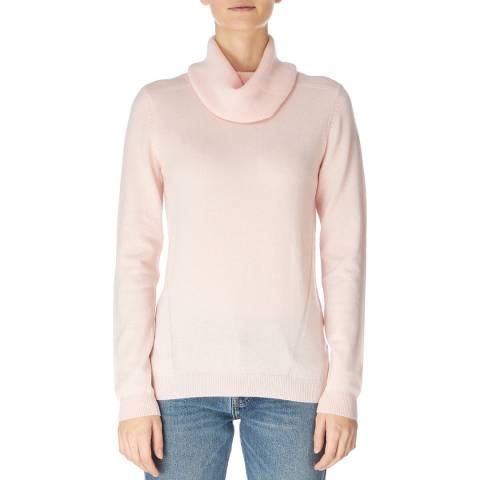 Jaeger Pink Wool Cashmere Cowl Neck Jumper