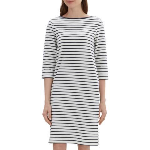 Jaeger Ivory Breton Stripe Jersey Dress