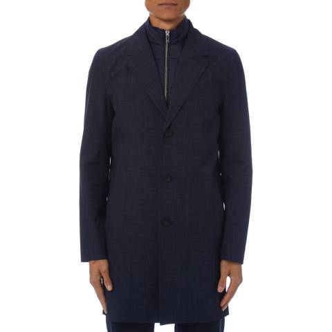 Reiss Navy Kurt Internal Gilet Coat