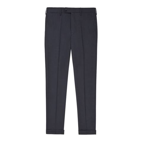Reiss Navy Chiltern Wool Suit Trousers
