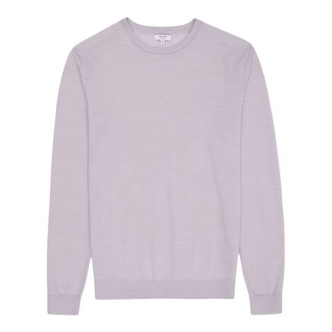 Reiss Lilac Wessex Wool Crew Jumper