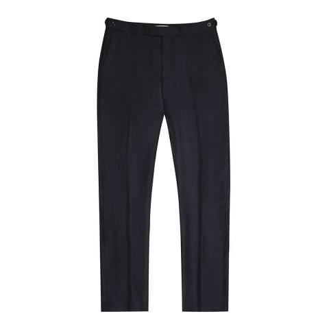 Reiss Navy Mason Wool Modern Suit Trousers