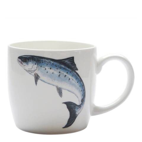 Jersey Pottery Fruits de Mer Leaping Salmon Mug