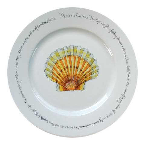 Jersey Pottery Large Fruits de Mer Scallop Presentation Plate