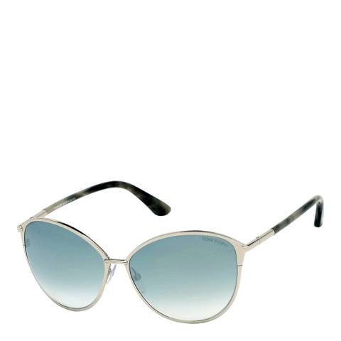 Tom Ford Women's Silver/Blue Tom Ford Sunglasses 59mm