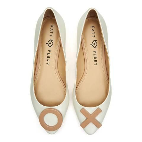 Katy Perry White Harra Leather Ballet Flat