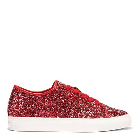 Katy Perry Red Glam Glitter Sneakers