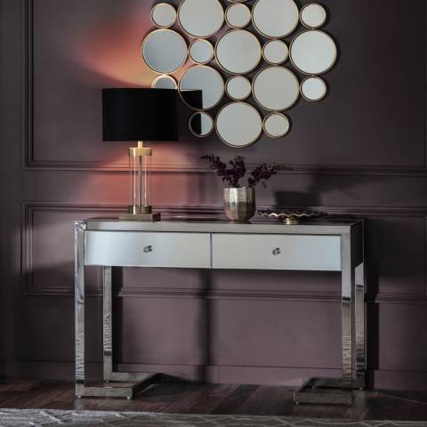 Gallery Cutler 2 Drawer Mirrored Console