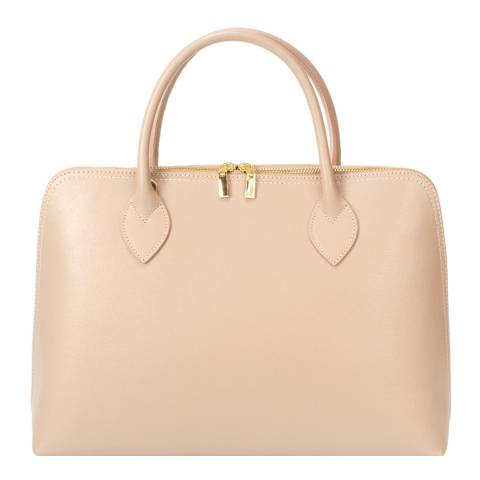 Massimo Castelli Blush Leather Top Handle Bag