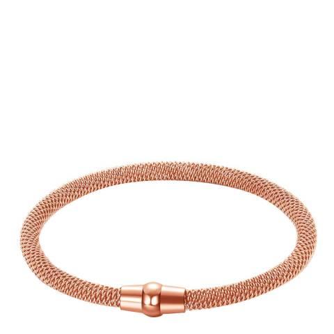 Liv Oliver 18K Rose Gold Plated Mesh Bracelet