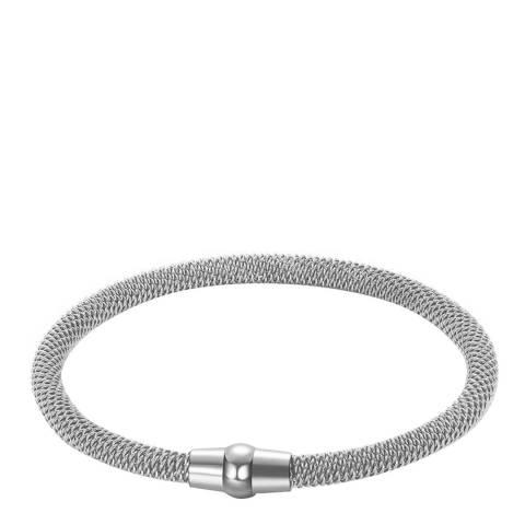 Liv Oliver Silver Mesh Bracelet