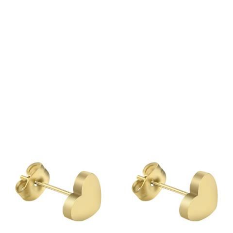 Liv Oliver 18K Gold Plated Heart Stud Earrings