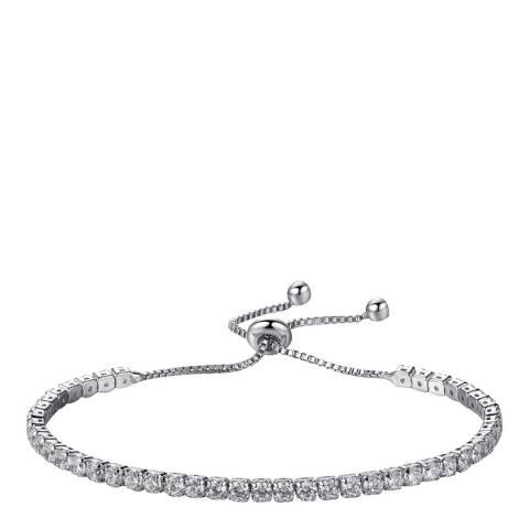 Liv Oliver Silver Plated Adjustable CZ Bracelet