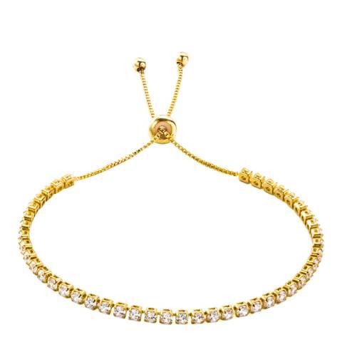 Liv Oliver 18K Gold Adjustable CZ Bracelet