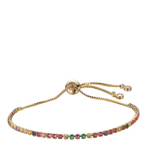 Liv Oliver 18K Gold CZ Eternity Adjustable Bracelet