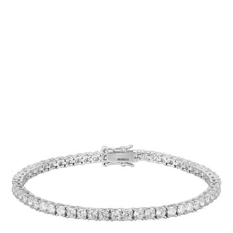 Liv Oliver Silver Plated CZ Eternity Tennis Bracelet