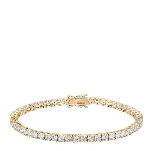 Liv Oliver 18K Gold Plated CZ Eternity Tennis Bracelet