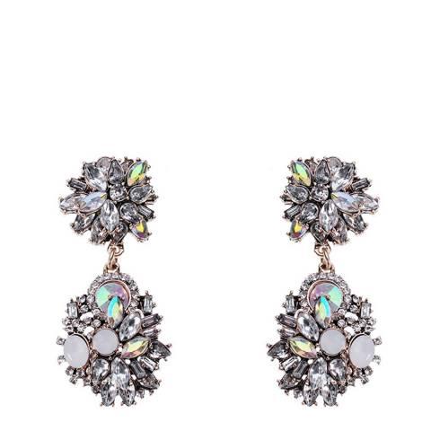 Liv Oliver 18K Gold Multi Crystal Earrings