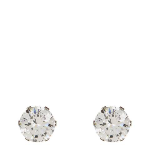 Liv Oliver Silver Plated Zirconia Stud Earrings