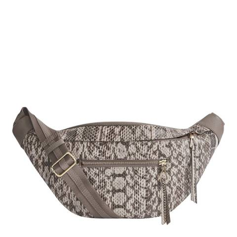 Reiss Grey Shoreditch Snake Crossbody