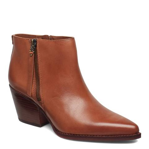 Sam Edelman Brown Leather Walden Ankle Boots