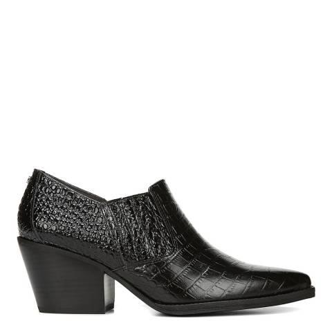 Sam Edelman Black Croc Leather Walton Low Bootie
