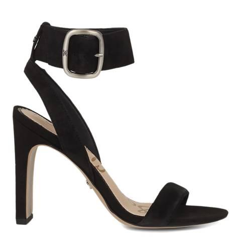 Sam Edelman Black Suede Yola Heeled Sandals
