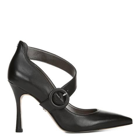 Sam Edelman Black Leather Hinda Pumps